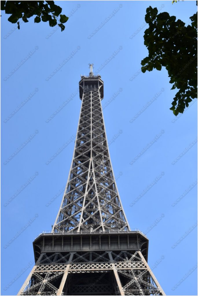 Different perspective on the Eiffel tower
