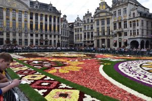 Viewing The Flower Carpet In Brussels