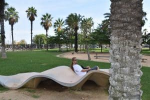 The Diagonal Mar Park In Barcelona