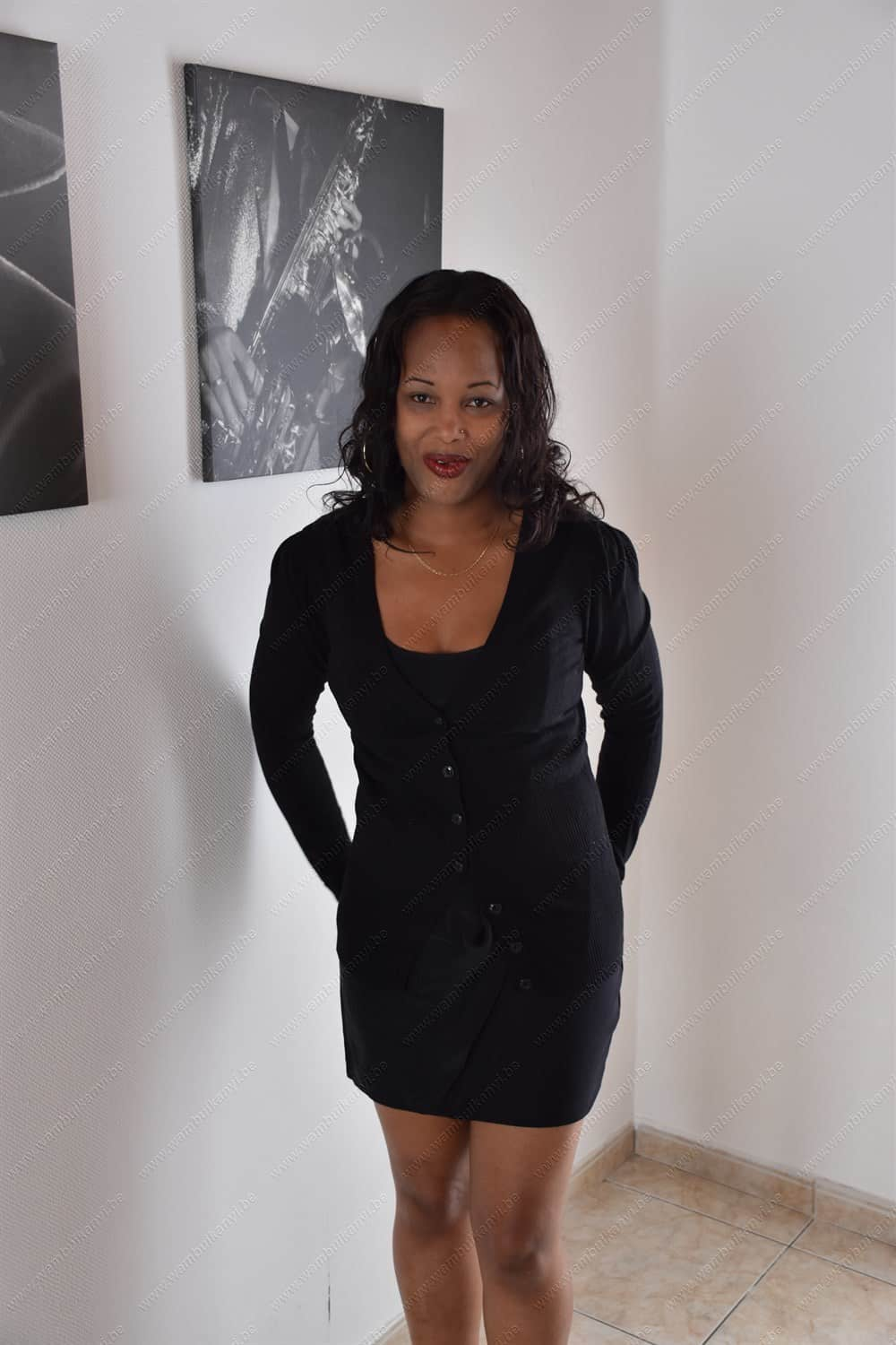 The little black dress with a cardigan