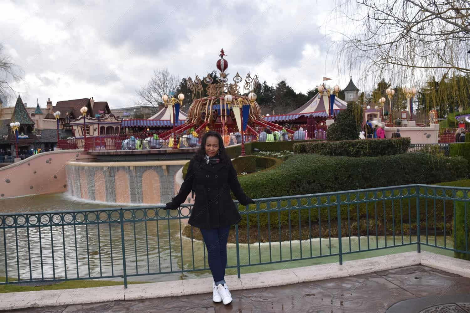 Having fun in the theme park