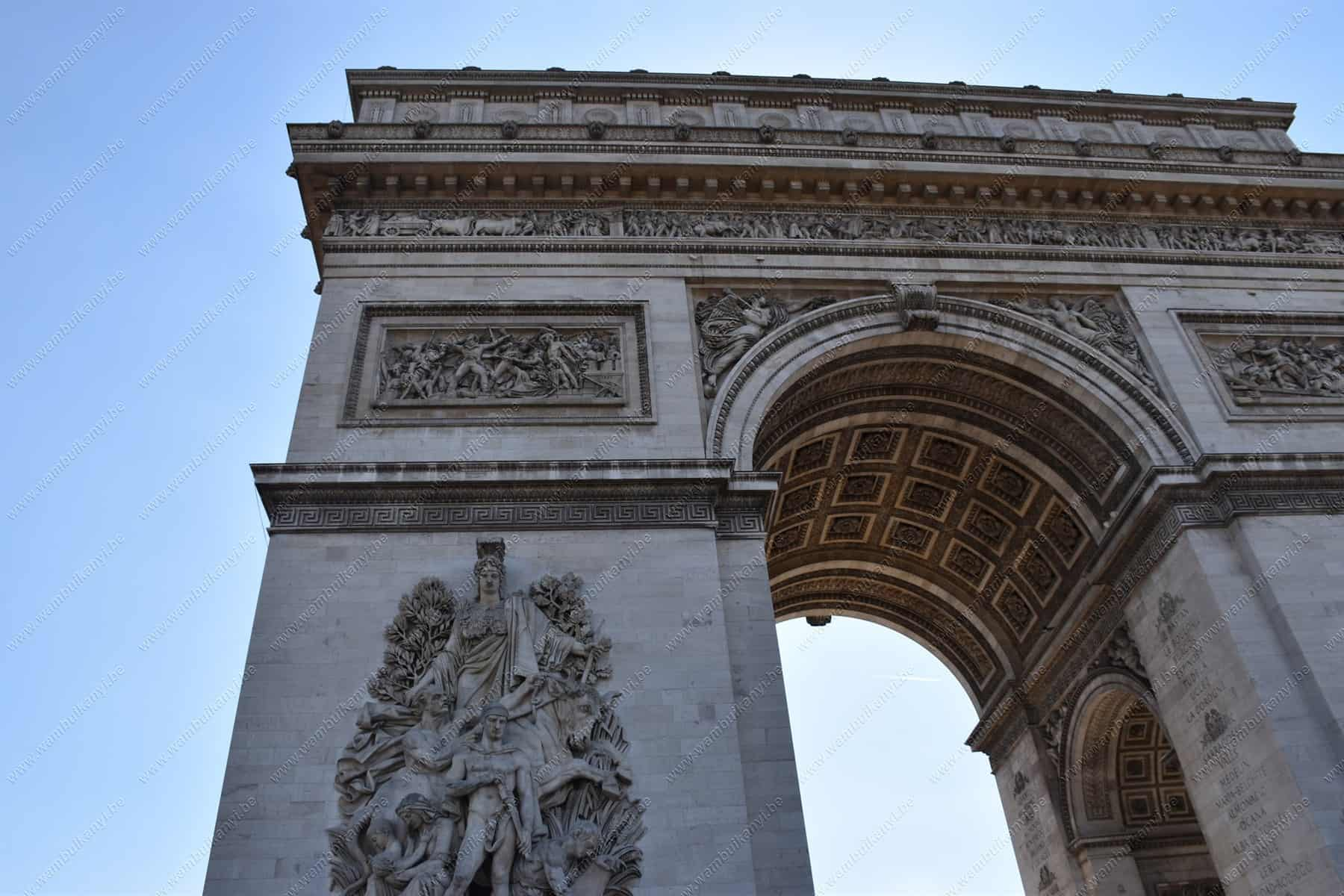 The Arc de Triomphe Monument in Paris