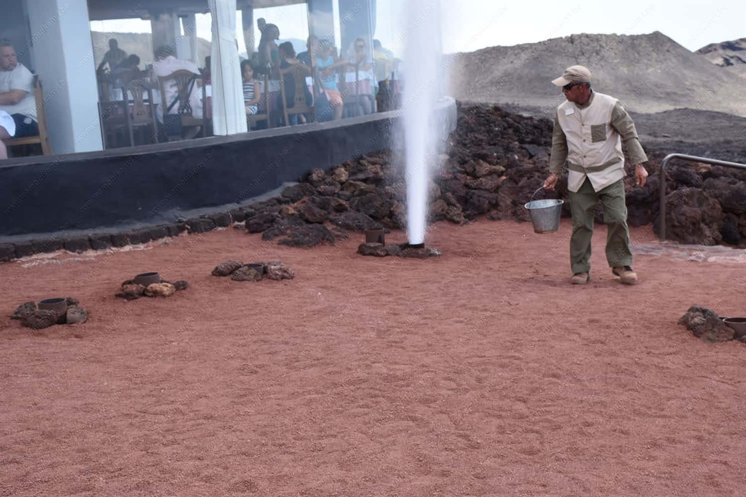 Geothermal Demonstration in The Fire Mountains Lanzarote